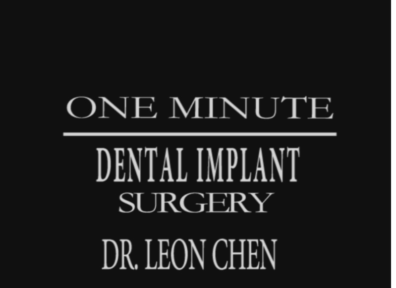 Dr Leon Chen and the One Minute Dental Implant